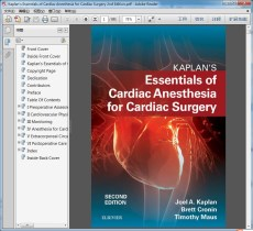 "Kaplan""s Essentials of Cardiac Anesthesia for Cardiac Surgery 2nd Edition"
